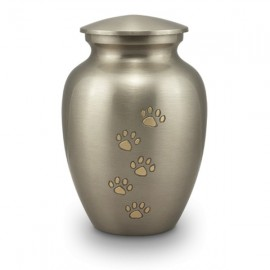 Golden Paw Print Urn (M)