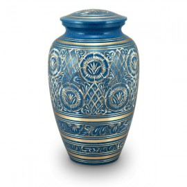 Nirvana Blue Cremation Urn